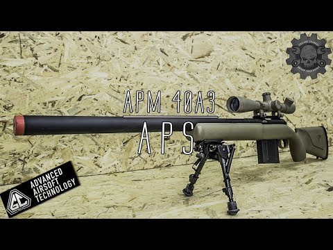UNBOXING REVIEW RECENSIONE APS APM40A3 TAN BOLT ACTION SNIPER  RIFLE  ITALIA