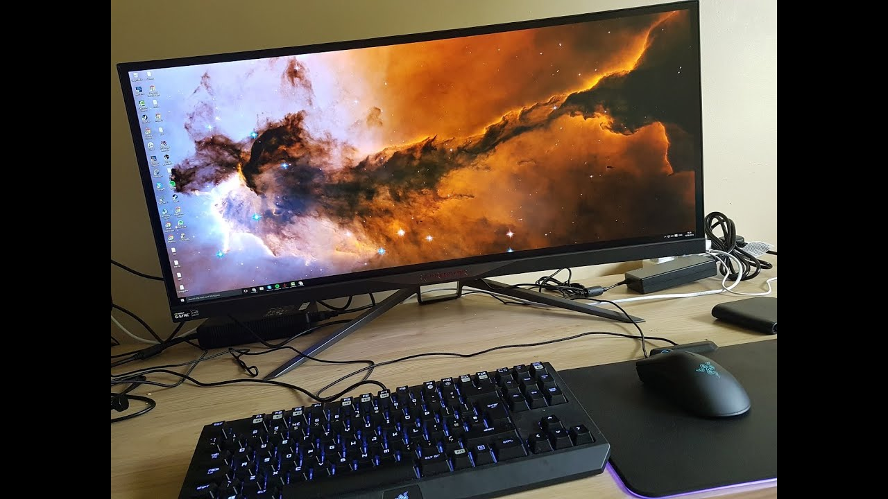 Acer Predator X34 Curved Gaming Monitor Unboxing Amp Setup