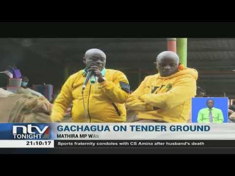 MP Rigathi Gachagua's tour disrupted