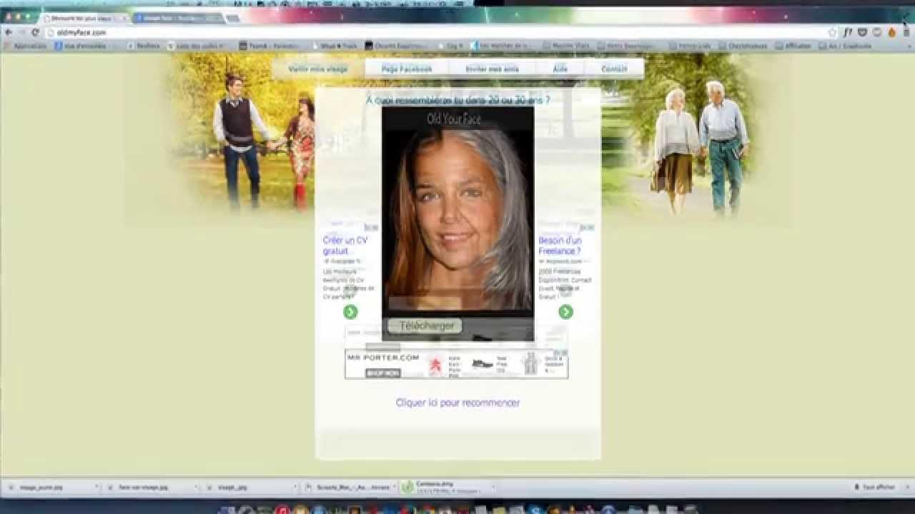 vieillir un visage en ligne