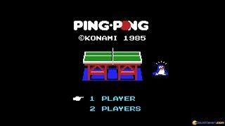 Ping Pong gameplay (PC Game, 1985)