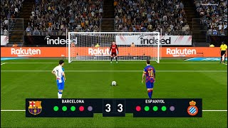 Barcelona vs Espanyol | Penalty Shootout | PES 2020 Gameply La Liga