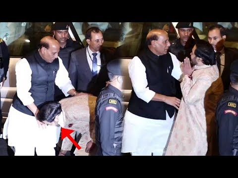 Anant Ambani Take BLESSING From Home Minister Rajnath Singh @ Isha Ambani-Anand Parimal Wedding