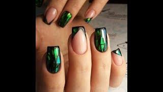 Модный дизайн ногтей 2018 (В зеленых тонах)