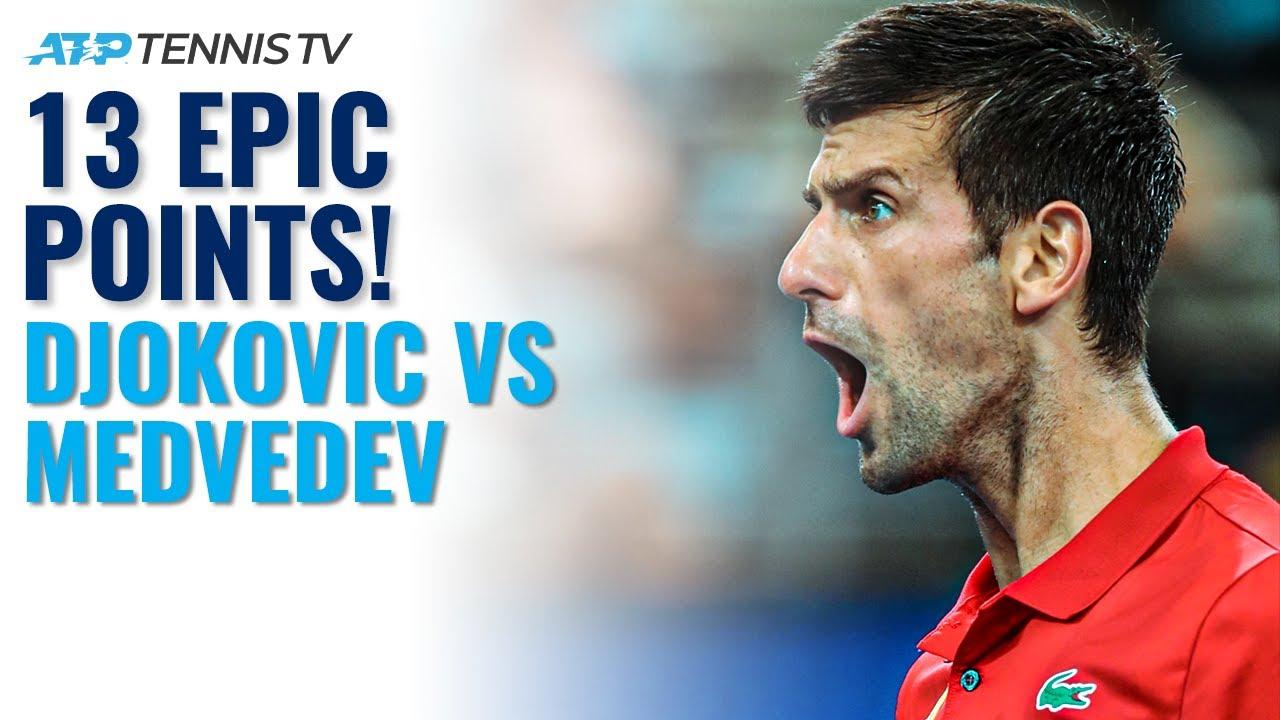 13 EPIC Novak Djokovic vs Daniil Medvedev Tennis Points 🤯