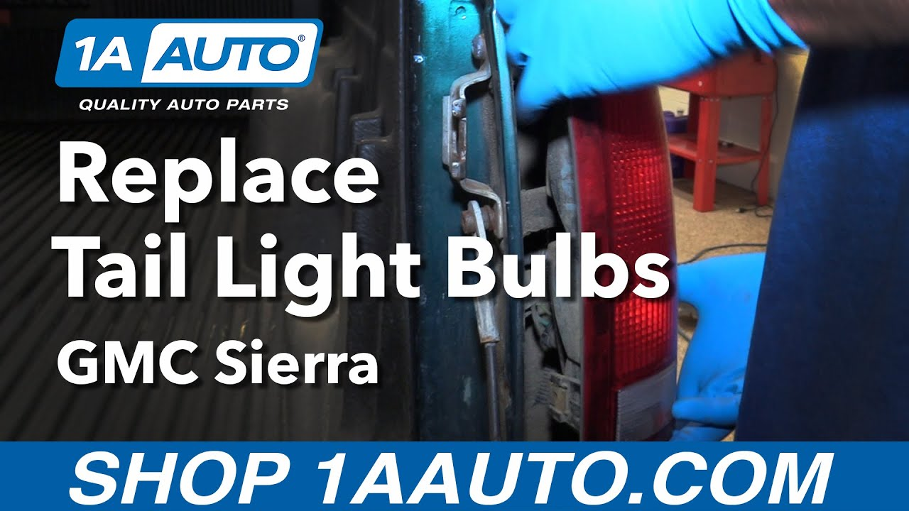 how to replace tail light bulbs 88-98 gmc sierra