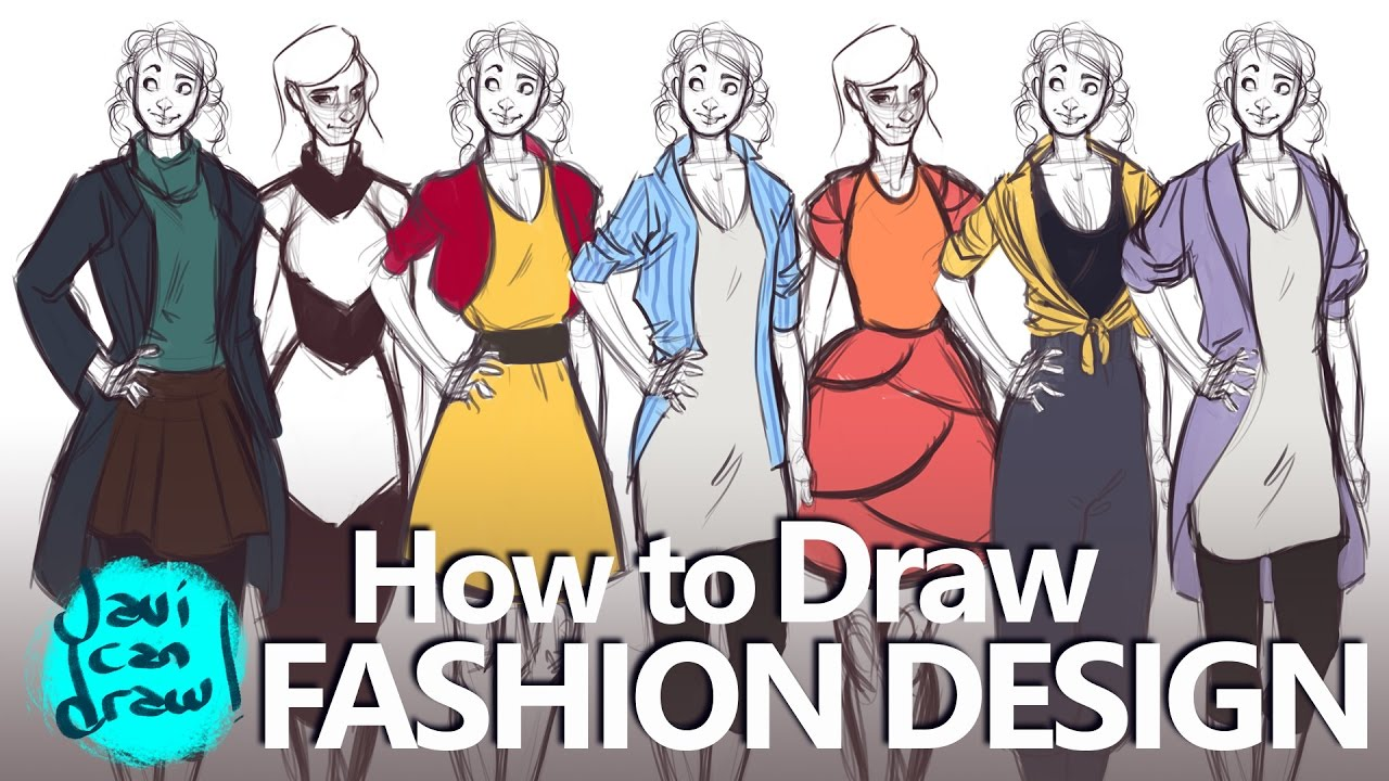 How To Draw Fashion Design Basics A Process Tutorial Youtube