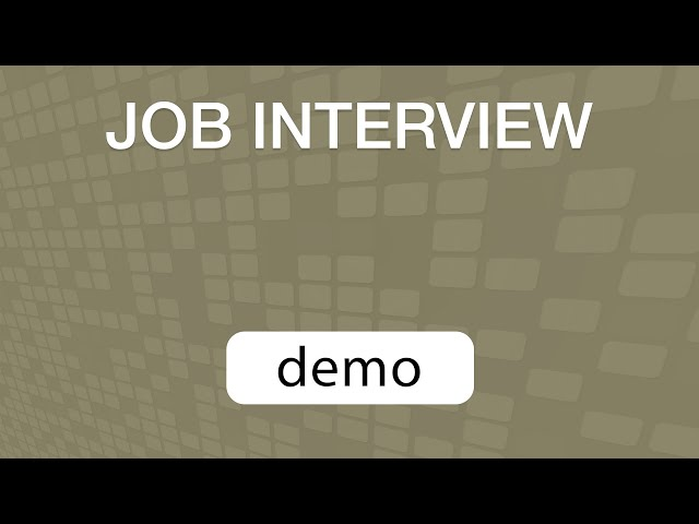 GoVenture JOB INTERVIEW simulation DEMO VIDEO