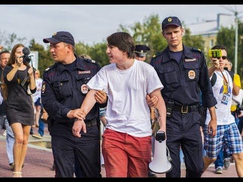 Клычков пришел на несогласованный митинг Навального в Орле