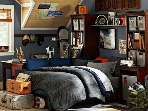Ideas To Organize And Decorate A Teen Boy Bedroom - YouTube on A Teenage Room  id=38840