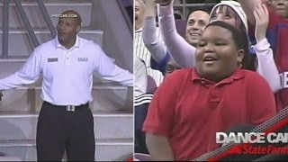 'Don't Want to Brag, but I'm Good': Young Fan Challenges NBA Usher to Dance-Off