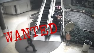 RAW: Women push over child on escalator while escaping police