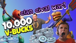 NOT CLICKBAIT 🔴10,000 V BUCKS CLAN WAR! 🔴 FORTNITE CIVIL WAR! | CUSTOM MATCHMAKING TOURNAMENT