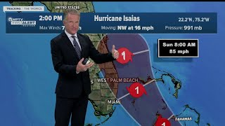 4 P.m. Weather Update On Hurricane Isaias