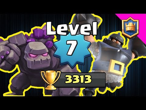 LEVEL 7 AT 3313!! THIS DECK IS CRAZY! Tourney Standard - Clash Royale