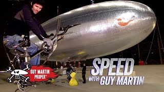 Guy's first time on his human-powered airship | Guy Martin Proper