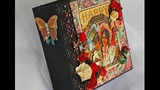 Cigar Box Secrets Scrapbook Photo Mini Album by Terry