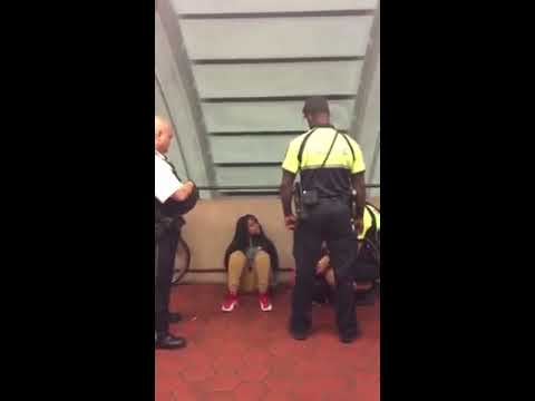 DC Metro Transit Police Kick and Push Young Black Woman at Columbia Heights Metro Station (1 of 2)