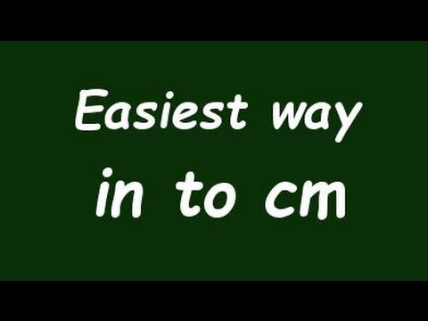 Convert Inch To Centimeter In To Cm