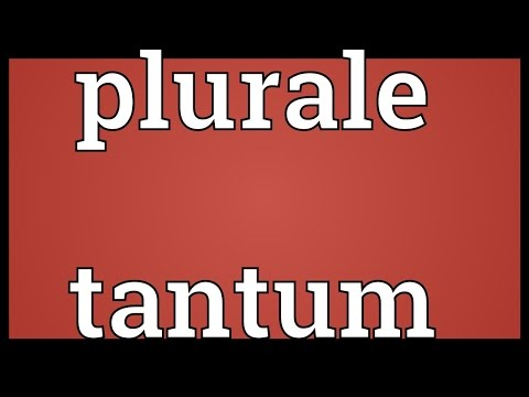 Plurale tantum Meaning