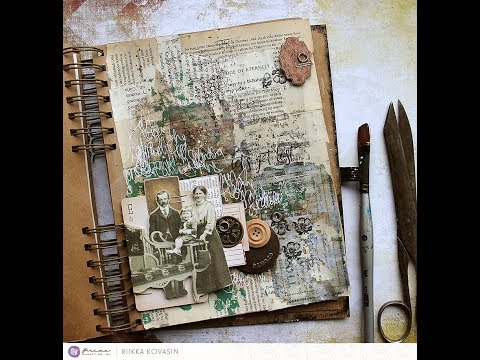Edge of Eternity - an art journal page by Riikka Kovasin