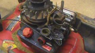 Linkage & Spring replacement on a Briggs & Stratton Quattro 4 HP Murray Lawn Mower