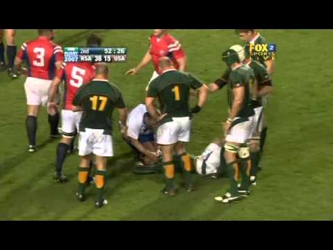 Rugby 2007. Pool A. South Africa v USA