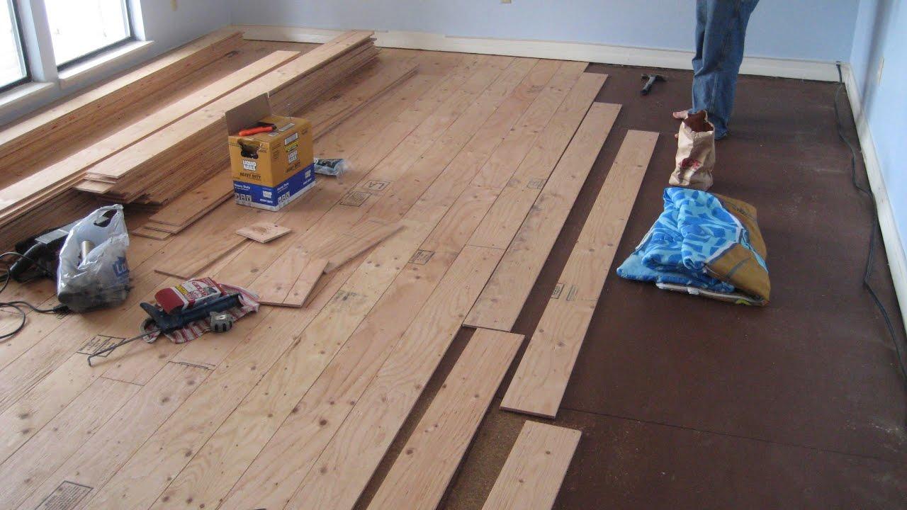 Floating Wood Floor for Basement Ideas & Floating Wood Floor for Basement Ideas - YouTube