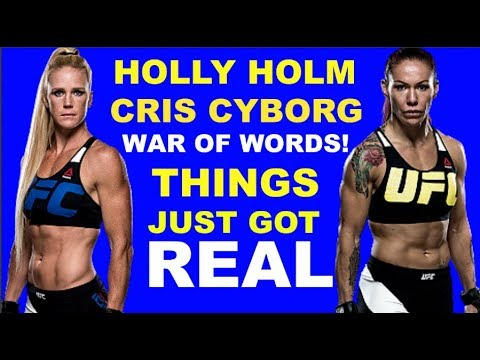 Holly Holm Cris Cyborg WAR OF WORDS | Things just got real!