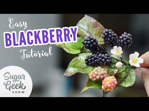 Easy Sugar Blackberry Tutorial