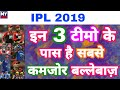 IPL 2019 - List Of Top 3 Teams With Weakest Batting Lineup After IPL Auction