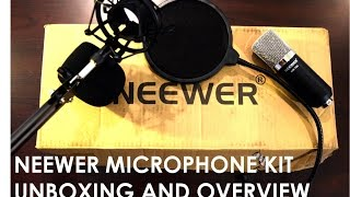 neewer nw 700 condenser microphone kit unboxing and overview