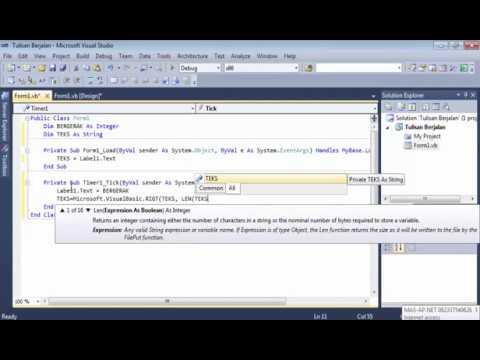 Cara Membuat Tulisan Berjalan Di Visual Basic 2010