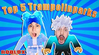 TOP 5 TRAMPOLINPARKS IN ROBLOX MIT MAMA DANIA & BABY KAAN!