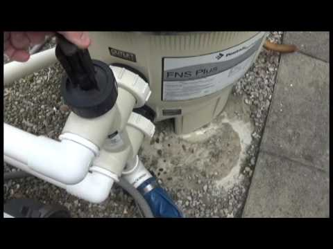 How to backwash DE filter with a slide valve