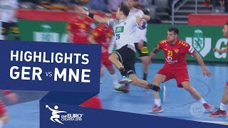 Highlights | Germany vs Montenegro | Men's EHF EURO 2018