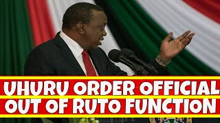 Uhuru Kenyatta Order County Commissioner out of William Ruto Function - The Inside Story