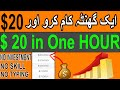 How to Earn $20 in one Hour   Make Money Online in 2021   Urdu / Hindi