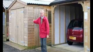 Wooden Garage Sizes For Vehicles And Storage