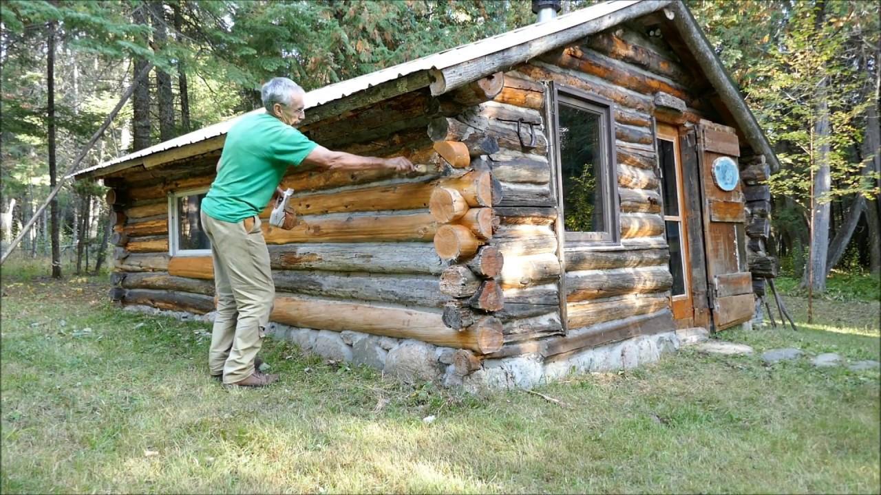Martin S Old Off Grid Log Cabin 43 Spiffing Up An Old Log Cabin Youtube