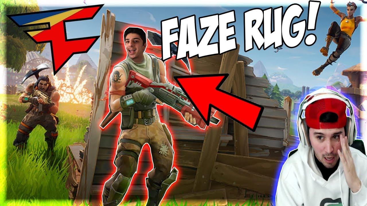 Reacting To Faze Rug Plays Fortnite