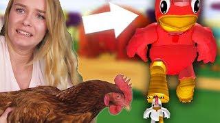 CHICKEN SIMULATOR IN ROBLOX! (With My Chicken)