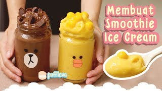 Ice Cream Smoothie - MEMBUAT SMOOTHIES ICE CREAM | AVOCADO & MANGGO SMOOTHIE RECIPE