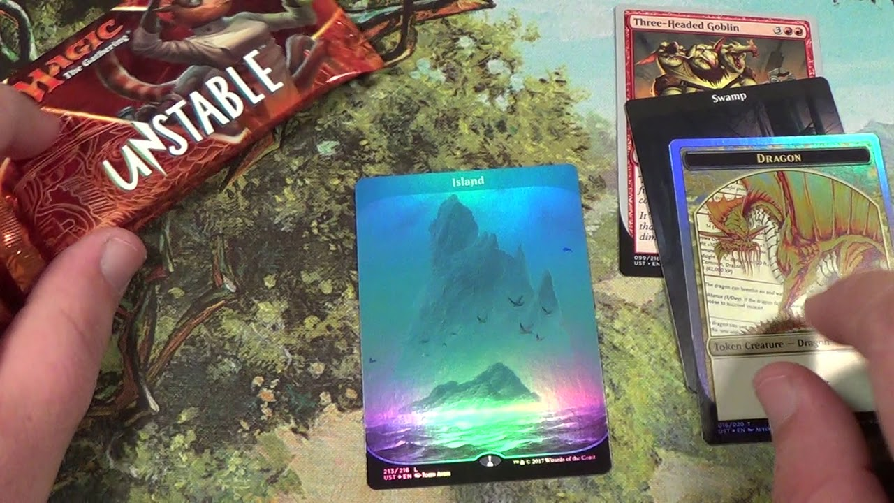MTG 3 UNSTABLE packs: FOIL ISLAND!!!!!!!!!!!!!!!!!!! - YouTube