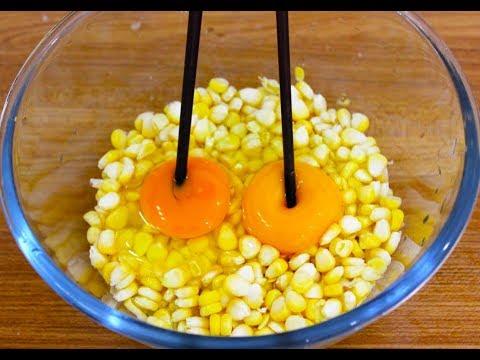 一个玉米加两个鸡蛋,美味可口还健康,小孩见了抢着吃!