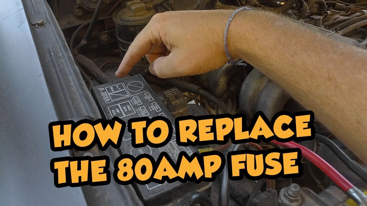 toyota pickup fuse box removal how to replace the fusible link 3rd gen toyota pickup youtube  3rd gen toyota pickup