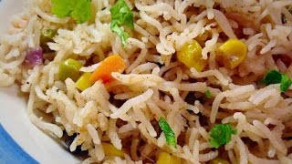 Vegetable Pulao Recipe Video(ویجی ٹیبل پلاؤ) Vegetarian Rice by (HUMA IN THE KITCHEN)