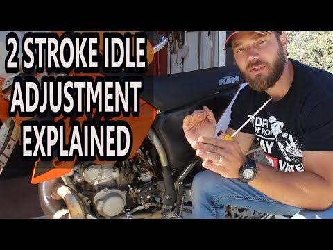 How to adjust idle on 2 stroke dirt bike - air screw adjustment 2 stroke.
