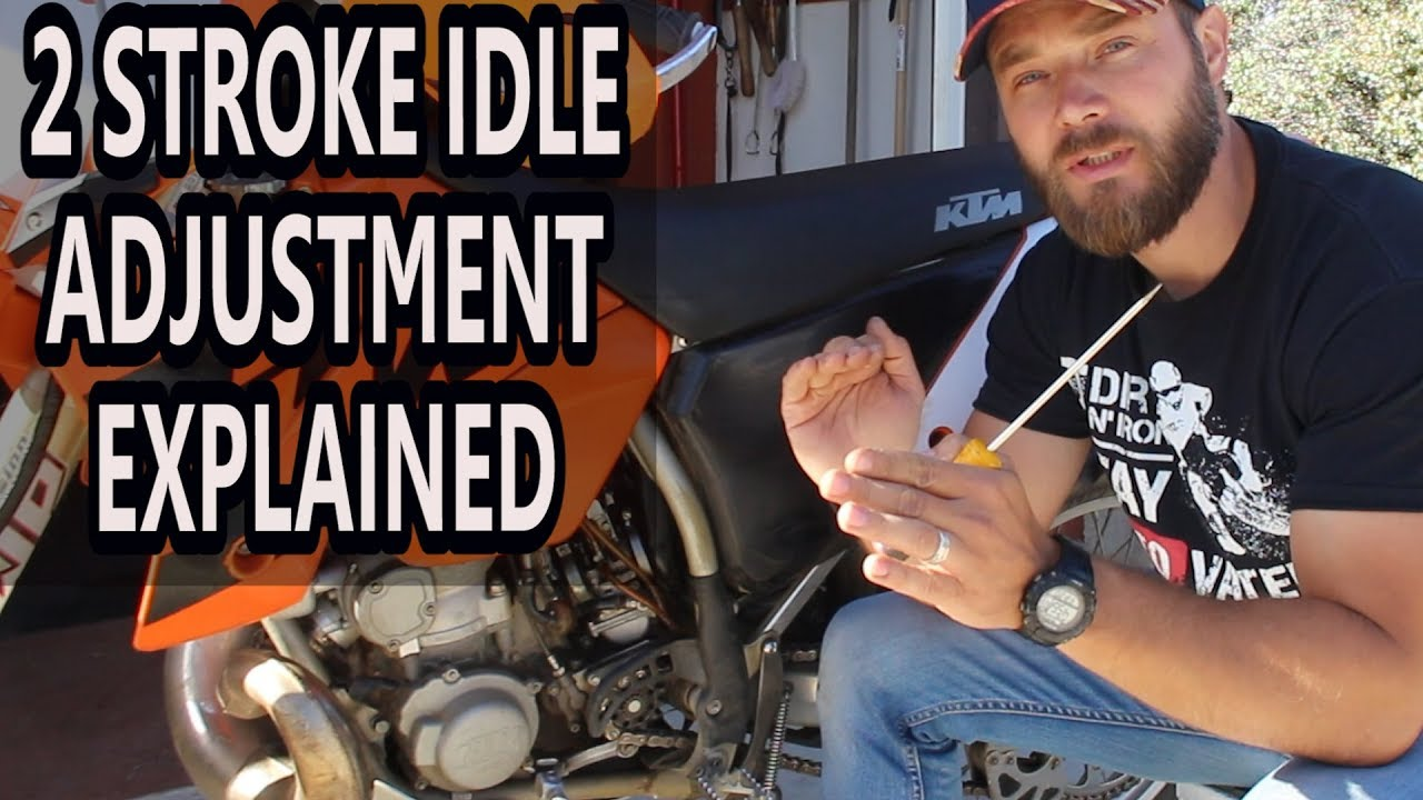 How to adjust idle on 2 stroke dirt bike - air screw adjustment 2 stroke