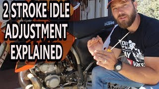 How to adjust idle on 2 stroke dirt bike - air screw adjustment 2 stroke.